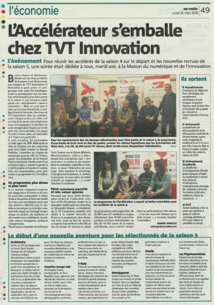 L'accélérateur s'emballe chez TVT Innovation